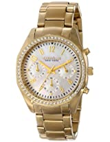 Caravelle by Bulova Crystal Analog Mother of Pearl Dial Women's Watch - 44L114