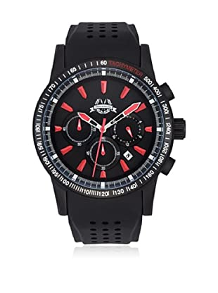 Spears & Walker Newark Chronograph Edelstahl Black/Red 5Atm schwarz