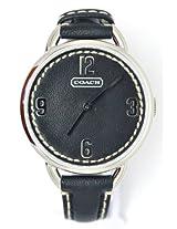 Coach Women Black Leather Strap Watch 14501640