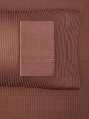 Satin Stripe Sheet Set (Chocolate)