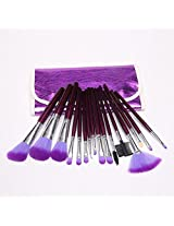 Amazing2015 16pcs Professional Cosmetic Makeup Make up Brush Brushes Set Kit with Purple Bag Case
