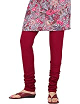 Stop Women's Knit Churidar (4599515-Red-Small)