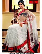 Deepika Padukon White bollywood Replica Saree