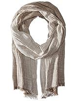 Saro Lifestyle Women's Pinstriped Design Shawl, Taupe, One Size