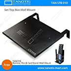 TANOTIS Set Top Box Wall Mount / Home Theatre Centre Speaker mount / Stabilizer Mount Strong Build High Quality Large Tray, Glossy Finish