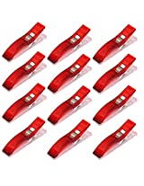 Imported Plastic Clips Clamps for DIY Patchwork Quilting Binding Sewing 50PCS Red