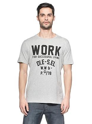 Diesel Camiseta T-Work-R (Gris Claro)