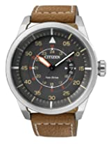 Citizen Eco-Drive Analog Grey Dial Men's Watch - AW1360-12H