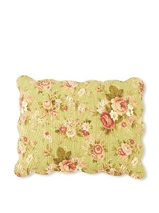 Erin's Rose Pillow Sham, Green, Standard