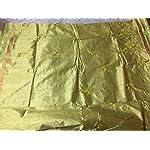 Green Gadwaal Phulkari Synthetic Saree With blouse piece