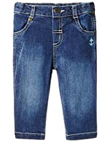 Beebay Cotton Denim Trouser (D5014104600423_Denim (Blue)_0-3M)