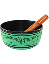 Brahmz Singing Bowl - Aluminium - 16 - 8 Inch - Brown Green
