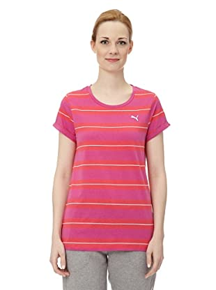 Puma Damen T-Shirt Striped (rose violet-teaberry)