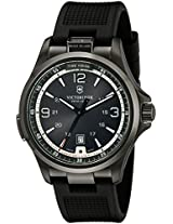 Victorinox Men's 241596 Night Vision Stainless Steel Watch with Black Rubber Band
