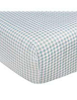 Kidsline Who's At The Zoo Fitted Sheet, Honeycomb, Blue