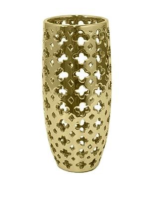 Three Hands Pierced Ceramic Vase