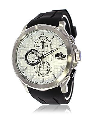 Pit Lane Uhr mit Miyota Uhrwerk Pl-1014-2 schwarz 45 mm