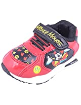 Disney Kids Unisex Mickey Mouse Black / Red Shoe - Size 7