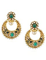 Royal Bling Green Pearly Beauteous Earrings for Girls