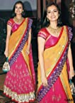 Diya mirza lifestyle bollywood replica lehanga saree