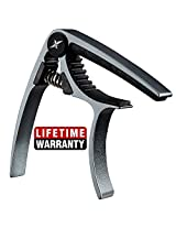 Guitar Capo Acoustic and Electric Guitars - xGuitarx x3 - The Original - Also for Ukulele, Banjo and Mandolin - Single-handed Professional High Performance Trigger Action Style Built of aluminum Alloy - Amazon Best-Seller! - Metal Blue