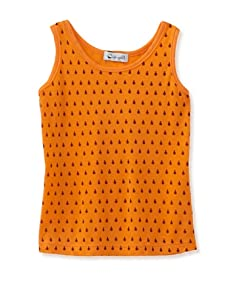 A for Apple Jam Tank with Lady Bug Print (Orange)