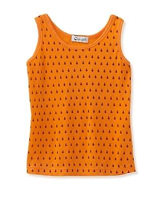 A for Apple Jam Tank with Lady Bug Print (Orange)