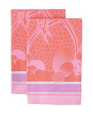 Garnier-Thiebaut Set of 2 Oeufs de Paques Framboise Kitchen Towels
