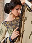 SR301 Pashmina pastel green brown designer winter shawl suit