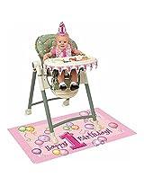Pink 1st Birthday High Chair Decorating Kit 4 Piece Set