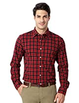 Allen Solly Red Checkered Cotton Shirt