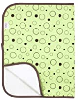 Kushies Deluxe Flannel Change Pad, Green Crazy Bubbles