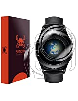 Skinomi® TechSkin - Samsung Gear S2 Classic Screen Protector + Full Body Skin / Front & Back HD Clear Film / Ultra High Definition and Anti-Bubble Invisible Shield [Watch not Included - Only Screen Protector ]