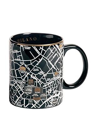 Seletti Porcelain Map Mug, Milan, 3.4