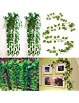 2.3m Artificial Ivy Grape Plastic Fake Green Leaves Garland Home Garden Decoration