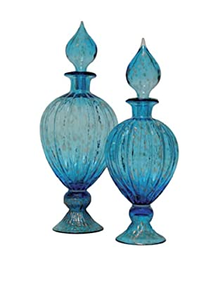 Set of 2 Safe Urns, Blue