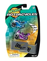 Toysmith Stunt Motorcycles Friction Powered - 2 Motorcycles and Ramps