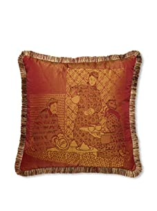 Mystic Valley Traders Sunset Tea Pillow (Red/Bronze)