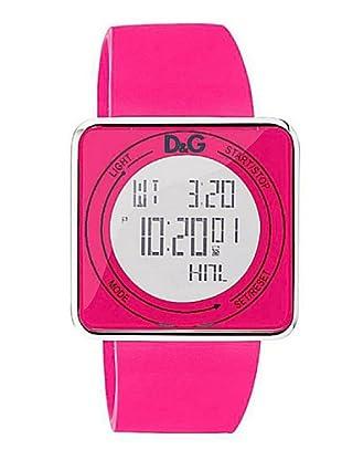 D&G DW0737 - Reloj de Señora movimiento de cuarzo con correa de caucho rosa