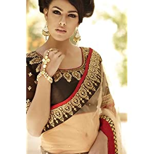 Pretty and Charming Net Lehenga Style Saree with Blouse - TBSANKK6002A