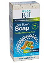 Neat Feat Kiwifruit And Walnut Foot Scrub Soap, 3 Fluid Ounces