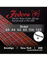 Fodera Electric Bass Guitar Strings, Roundwound 6-String Nickel - 28125 TB