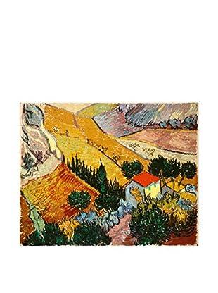 LegendArte  Wandbild Landschaft mit Haus und Pflüger von Vincent Van Gogh