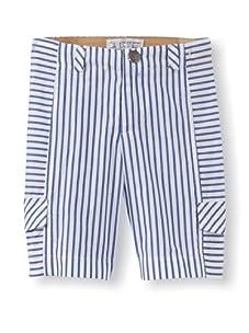 LA Lounge Boy's Striped Cargo Shorts (Blue)