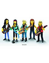 NECA Simpsons 25th Anniversary Series 4 Aerosmith Action Figures (Full Band - Set of 5)