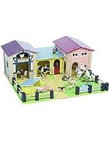 The Farmyard - Wood Farm and Barn Set