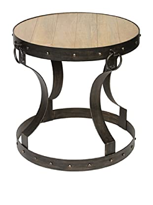 Prima Design Source Iron Accent Table with Reclaimed Wood