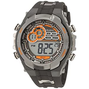Armitron Men's Black Resin Digital Watch - 408188GMG