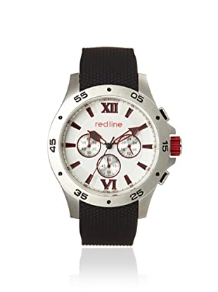 red line Men's 60028 Spark Black/Silver Rubber Watch