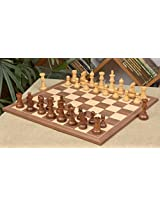 Chessbazaar Combo Of Antique Series Wooden Chess Pieces In Sheesham & Box Wood And Walnut / Maple Chessboard